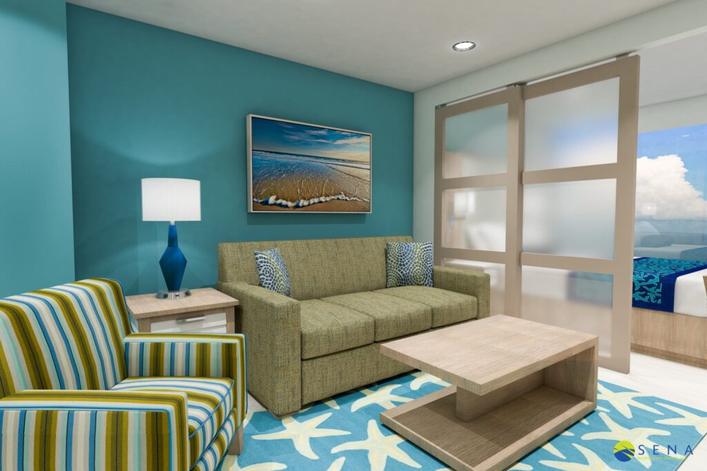 hospitality 3d renderings hotel room dimensions planning and interior design layout