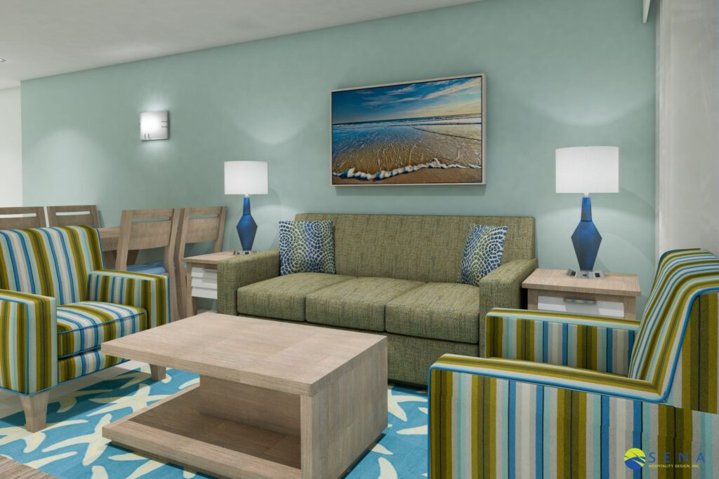 3D hotel room dimensions planning & layout for interior design