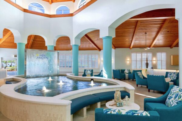 the resort on cocoa beach hotel lobby design by sena hospitality