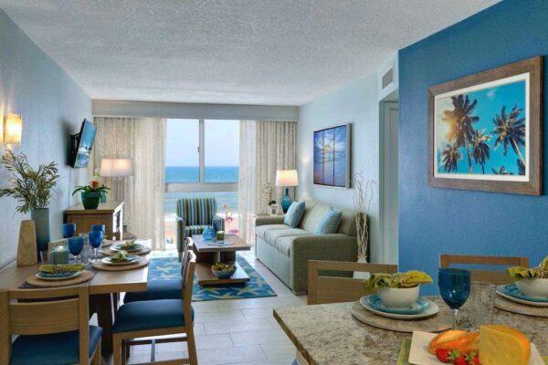 grand seas by exploria resorts hotel ff&e and small hotel room interior design by sena hospitality design