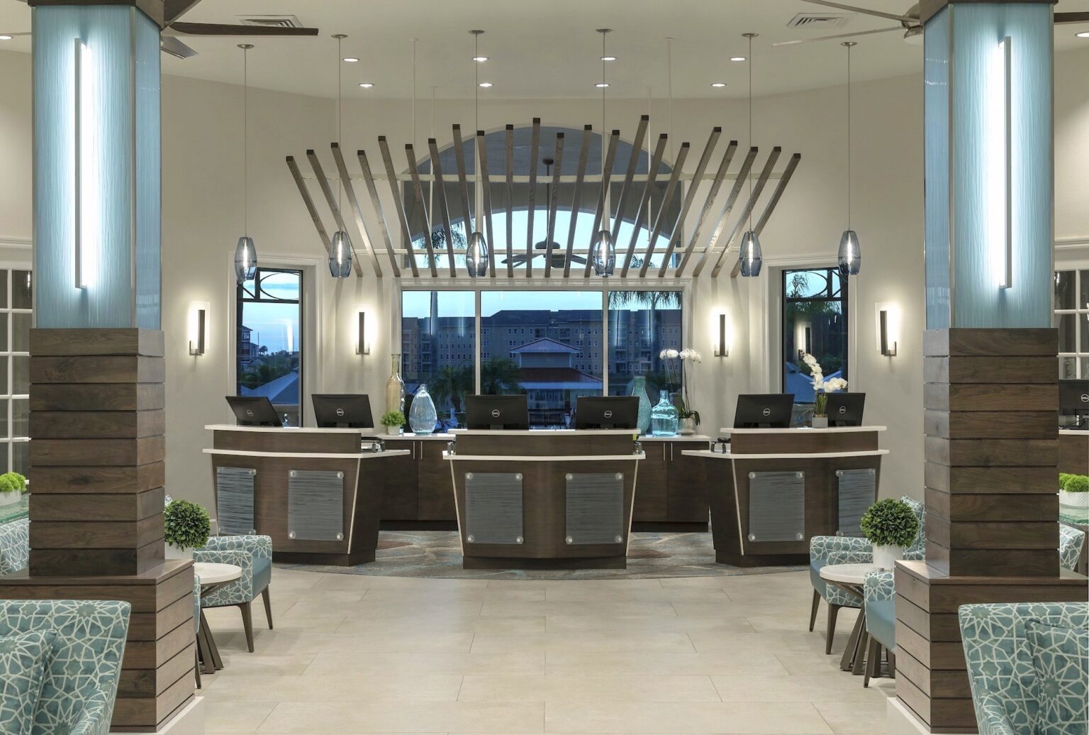 summer bay orlando hotel check in lobby renovations ff&e interior design
