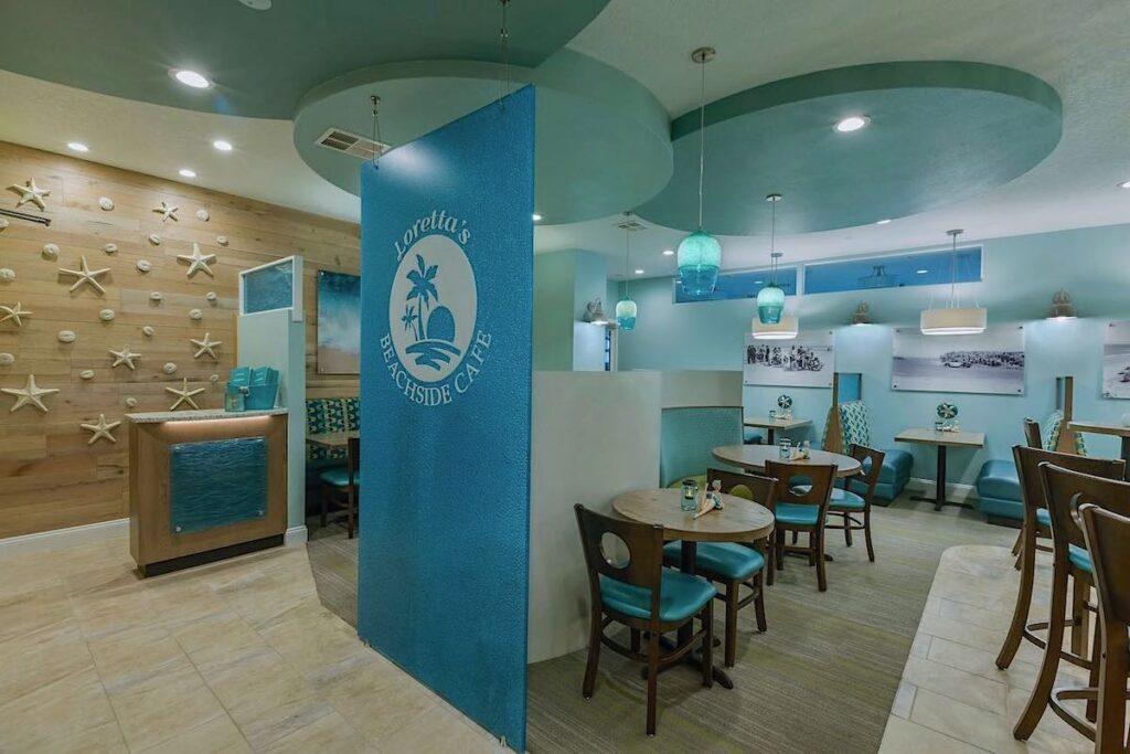 beach side cafe at grand seas resort restaurant design by sena hospitality
