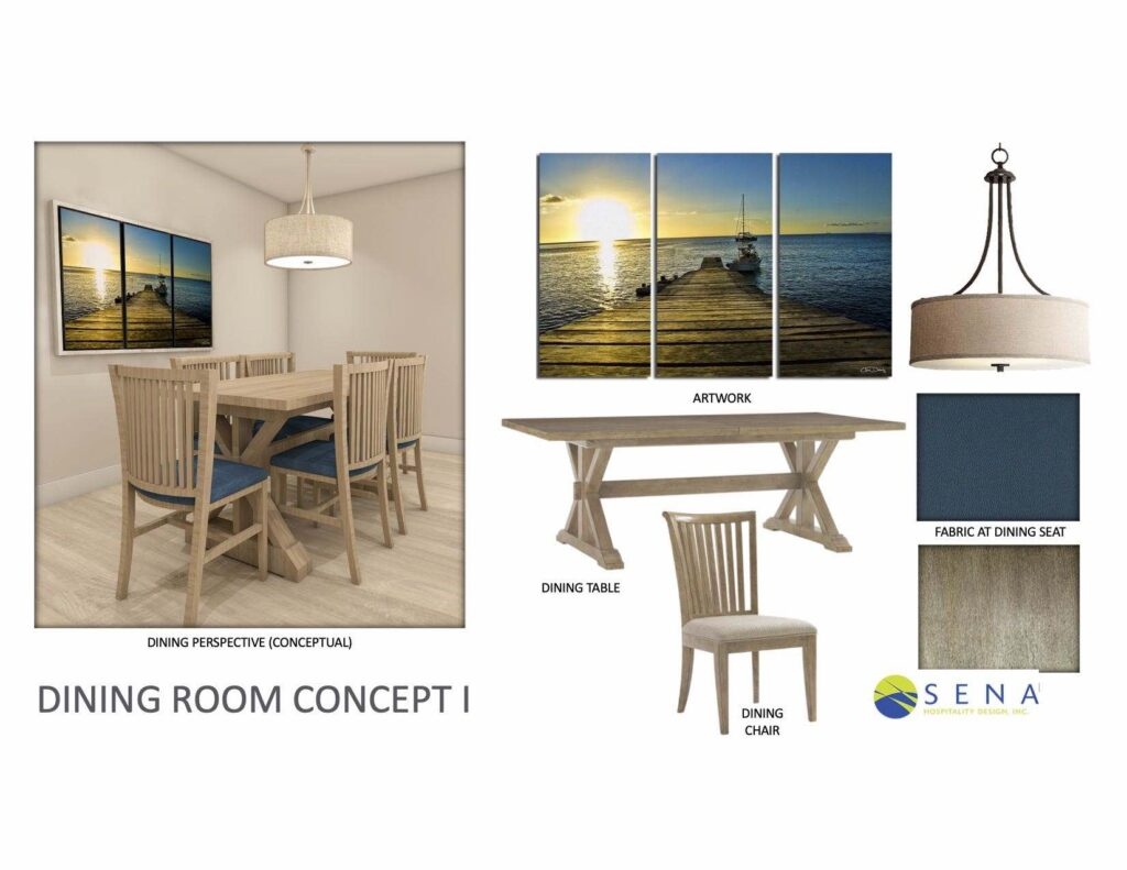 hotel dining room furniture and hospitality design concept
